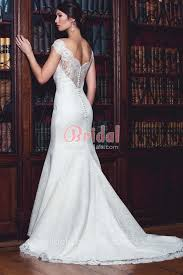 fit and flare wedding dress illusion lace the shoulder cap sleeve classic fit and flare