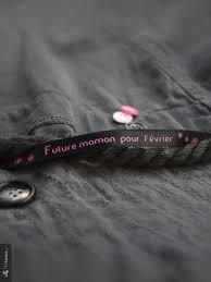 future maman bracelet de satin future maman pour février