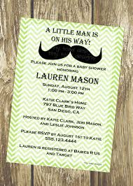 a little man is on his way mustache baby shower invitations