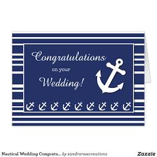 wedding wishes nautical nautical wedding congratulations stripes anchors card wedding