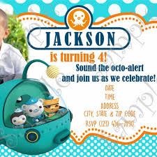octonauts birthday invitations octonauts birthday invitations by