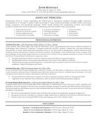 Resumes Sample by Administrator Principal U0027s Resume Sample Educational