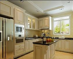 Antique Traditional American Kitchen With Arch Classic Doors Buy - American kitchen cabinets