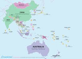 Asia World Map by World Map Of Every Countries Most Popular Tourist Attraction U2013 The