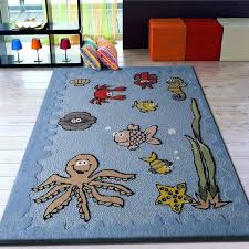 Kid Rug Cool Kid Rug Underwater Sea World Friends Blue Tufted