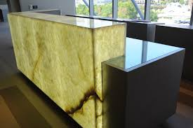 Granite Reception Desk White Onyx Reception Desk Levantina Dallas Natural Stone