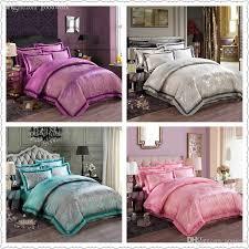 wholesale oriental duvet cover queen king size bright color silk