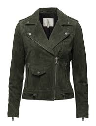 selected femme sflore suede jacket c forest 220 selected femme