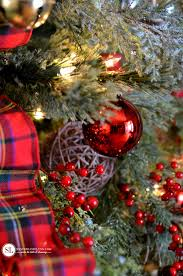plaid christmas traditional tartan plaid christmas tree 2016