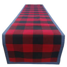 living 90 in buffalo plaid table runner lowe s canada