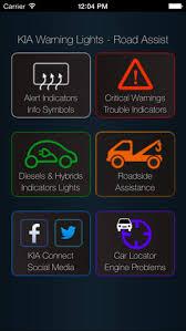 kia warning lights symbols app for kia cars kia warning lights kia road assistance car