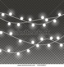 lights string bulbs isolated on transparent stock vector 531510817