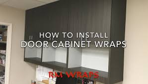 Re Laminating Kitchen Cabinets Wrapping A Cabinet Door With 3m Di Noc Vinyl Rmwraps Com Youtube