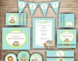baby shower kits boy s baptism noah s ark party kit noah s ark