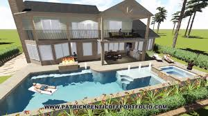 residential landscape swimming pool lumion 3d landscape