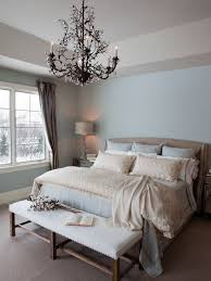 traditional bedroom remodel ideas with light blue wall paint color