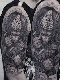 warrior monkey tattoo best tattoo ideas for men and women