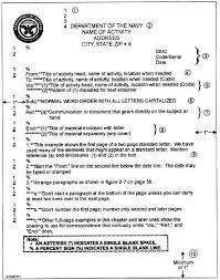 navy memo format naval letter format example images letter
