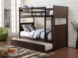 Acme  Hector Antique Charcoal Brown Twin Twin Trundle Bunk Bed - Trundle bunk beds