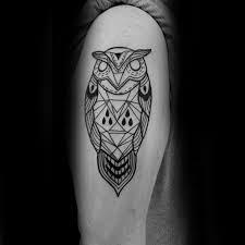 80 geometric owl designs for shape ink ideas