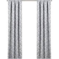White And Gray Curtains Chevron Curtains You U0027ll Love Wayfair