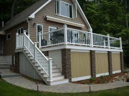 interesting deck stair railing