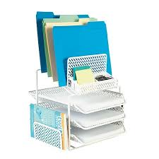 Desk Organizer White Staples All In One White Zigzag Desk Organizer Staples
