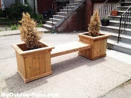 outdoor planter bench myoutdoorplans free woodworking plans
