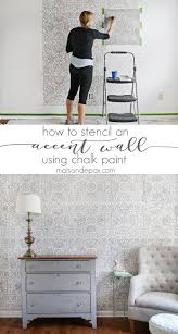 bathroom stencil ideas how to stencil an accent wall chalk paint stenciling and walls