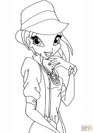 winx club tecna coloring page free printable coloring pages