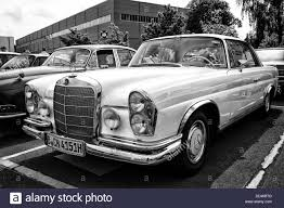 classic mercedes coupe car mercedes benz 280 se w111 coupe black and white stock photo