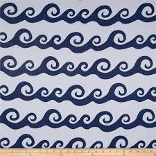Nautical Home Decor Fabric by Rca Blackout Nautical Waves Navy Discount Designer Fabric