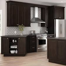 home depot kitchen cabinets hton bay designer series gretna assembled 9x42x12 in wall kitchen cabinet in espresso