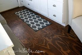 how to stain plywood floor subfloor flooring tiny house