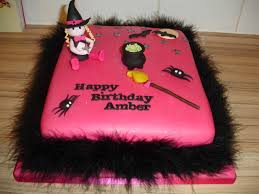 birthday cake halloween halloween birthday cake in pink and black with a witch