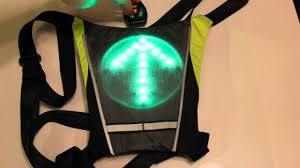 cycling jacket with lights led turn signal vest youtube