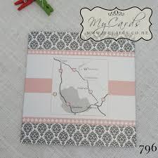 Damask Wedding Invitations Pink Silver Damask Wedding Invitation Design 796 Mycards Akld