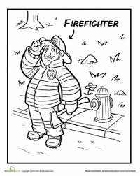 friendly fireman worksheet education