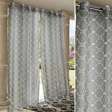 Outdoor Curtain Fabric by Wrought Iron Gray Sheer Voile Indoor Outdoor Curtain Panels