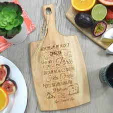 personalized cheese cutting board personalised cheese serving chopping board food and wine month