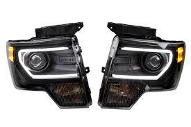 2012 ford f150 projector headlights lighting upgrades hid headlights recon light bar raptor style