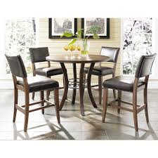 Bar Height Dining Room Sets Hillsdale Cameron Round Wood With Metal Ring Counter Height Dining