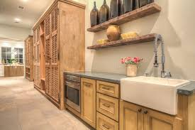 decorating kitchen shelves ideas decorating white apron front sink with graff faucets and corian