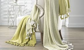Comfort Bay Blankets 100 Cotton Throws 2 Pack Groupon Goods