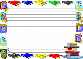 writing paper borders two sets of colourful international literacy day themed lined two sets of international literacy day themed lined paper and page borders for your english writing composition or maths problem solving activity