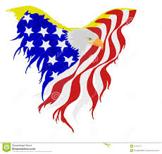 Eagles Flag American Bald Eagle Flag Stock Vector Illustration Of Stripes