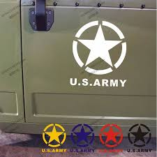 jeep army star us army star usmc ww2 vinyl car decal bumper sticker fit for jeep
