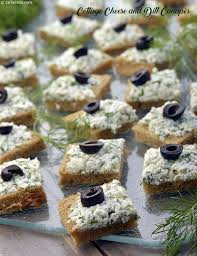 canapé cottage cottage cheese and dill canapés recipe sandwich recipes by tarla