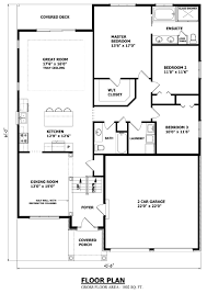 bungalow house plans 3 bedroom 4 two canadian home guelp luxihome
