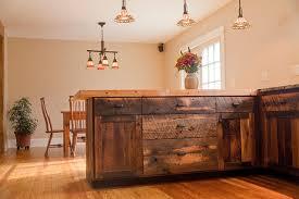 Barnwood Kitchen Cabinets Reclaimed Oak Barnwood Cabinets